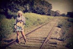 senior rail raod western portraits modeling weatherford tx photographer